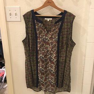 Daniel Rainn boho style tunic blouse